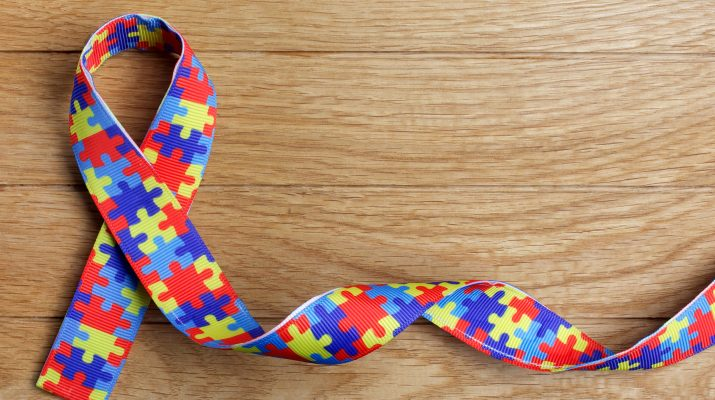 Puzzle Pattern Ribbon for Autism